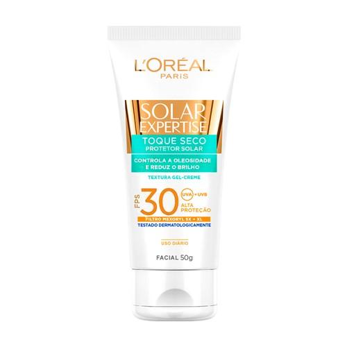 Protetor Solar Facial L'oréal Solar Expertise Toque Seco FPS 30 Gel Creme com 50g