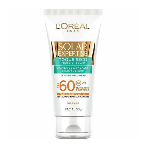 Protetor Solar Facial L'oréal Solar Expertise Toque Seco FPS 60 Gel Creme com 50g