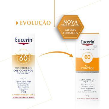 Protetor Solar Facial Oil Control Fps 60 Eucerin 52g