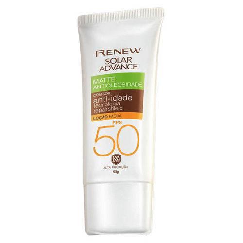 Protetor Solar Facial Renew Advance Matte com Cor Anti-idade Fps50 50g