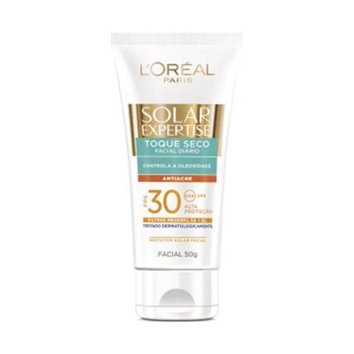 Protetor Solar Facial Solar Expertise 50g Fps30 Toque Seco Antiacne