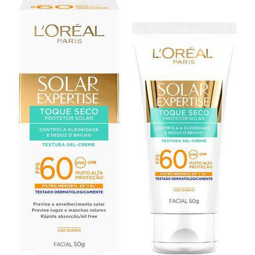 Protetor Solar Facial Toque Seco Expertise Fps 60 L'oreal Paris