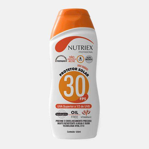Protetor Solar Fps 30 Nutriex 120 G