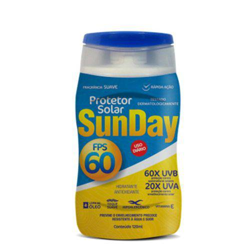 Protetor Solar Fps 60 120ML Sunday