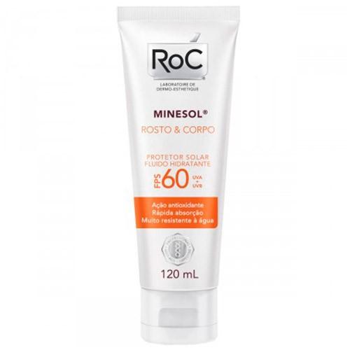 Protetor Solar Hidratante Roc Minesol Rosto e Corpo Fps60 120ml