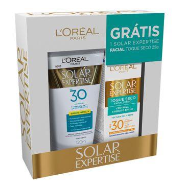 Protetor Solar Loreal Expertise FPS 30 120ml Grátis Toque Seco FPS 30 25g