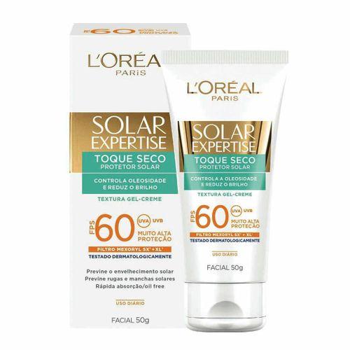 Protetor Solar L'Oréal Facial Expertise Toque Seco FPS 60 50g