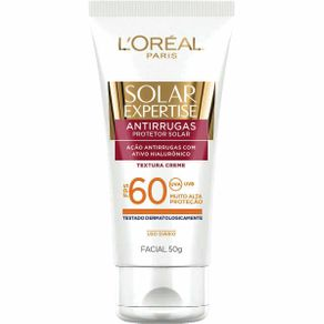 Protetor Solar L'Oréal Paris Solar Expertise Antirrugas Facial FPS 60 50g