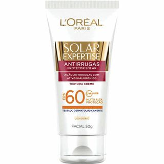 Protetor Solar L'Oréal Paris Solar Expertise Facial Antirrugas FPS 60 50g