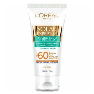 Protetor Solar L'Oréal Paris Solar Expertise Facial Toque Seco FPS 60 50g