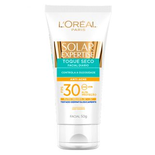 Protetor Solar L'Oréal Paris - Solar Expertise Toque Seco Antiacne FPS 30 50g