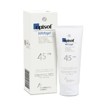 Protetor Solar Mantecorp Episol FPS-45 White Gel 60g
