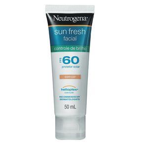 Protetor Solar Neutrogena Sun Fresh Controle de Brilho com Cor FPS 60 50ml