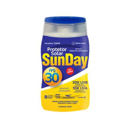 Protetor Solar Nutriex Fps 30 - Sunday Bisnaga com 120ml