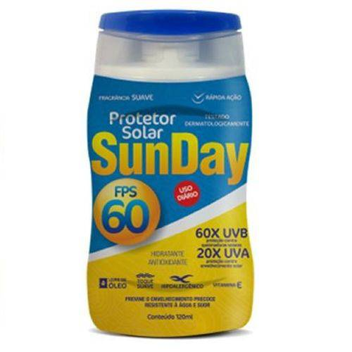 Protetor Solar Nutriex Fps 60 - Sunday Bisnaga com 120ml