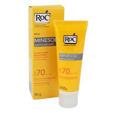 Protetor Solar Roc Minesol Antiox Serum Fps-70 50g