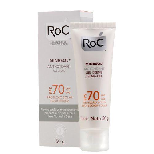 Protetor Solar Roc Minesol Antioxidante FPS 70 - 50g