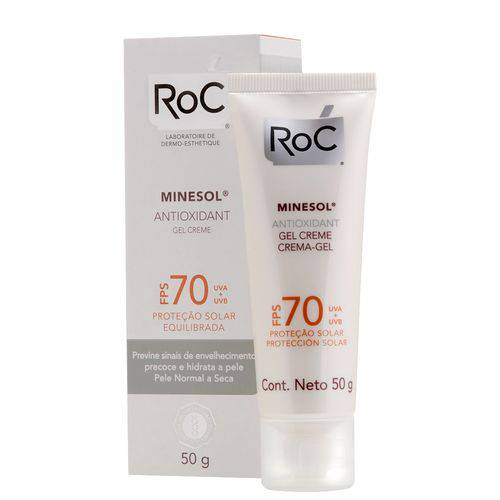 Protetor Solar Roc Minesol Gel Creme Antioxidante FPS 70 50g