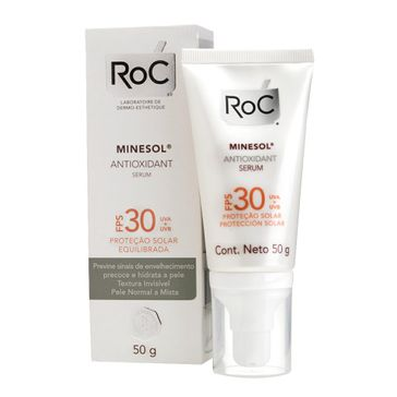 Protetor Solar Roc Minesol Oil Control Antioxidante Sérum Fps30 50g