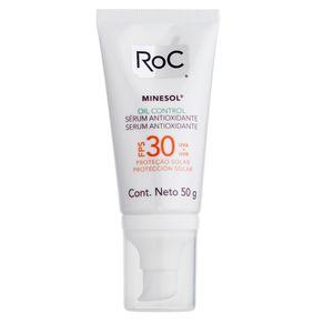 Protetor Solar Roc - Minesol Oil Control Sérum Antioxidante FPS30 50g