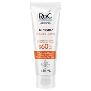 Protetor Solar RoC Rosto & Corpo FPS 60 120ml
