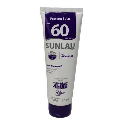 Protetor Solar Sunlau FPS60 Epi 120GRS