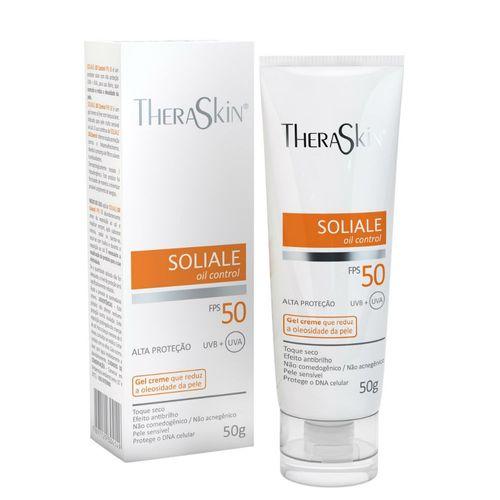 Protetor Solar Theraskin Soliale Gel Creme FPS50 50g