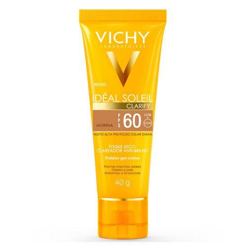 Protetor Solar Vichy Ideal Soleil Clarify Fps 60 Cor Morena 40g