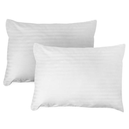 Protetor Travesseiro Damask 50x90 C/ 2 Peças - Branco - 50x90