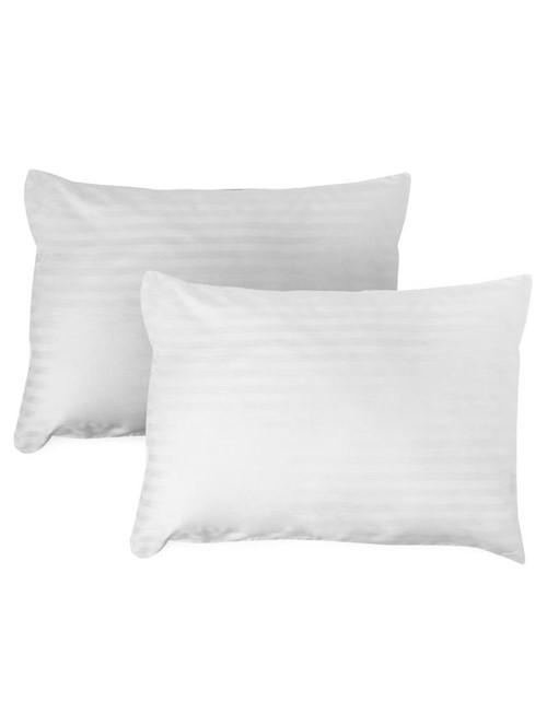 Protetor Travesseiro Damask New 2 Peças Branco 50X90cm
