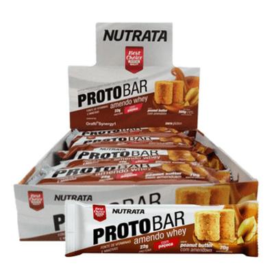 Proto Bar Caixa 8 Unidades Nutrata Proto Bar Caixa 8 Unidades Peanut Butter Nutrata