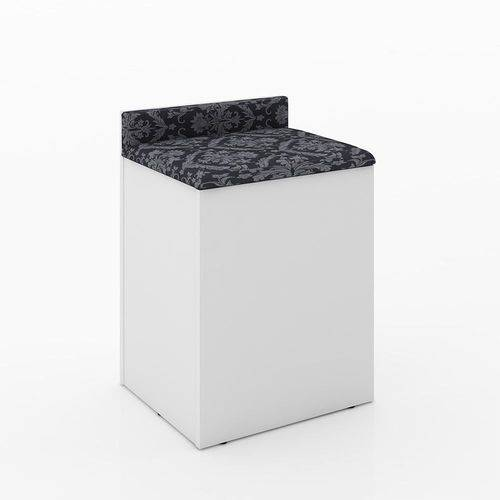 Puff Baú Pu2052 Branco Tec 369 - Tecno Mobili