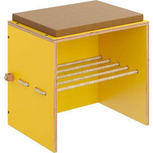 Puff C/ Futon Cordel – Be Mobiliário - Amarelo