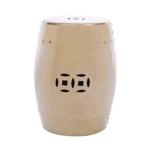 Puff de Cerâmica YO Cobre Or Design