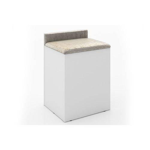 Puff Tecno Mobili PU2052 - Cor Branco/Assento 381