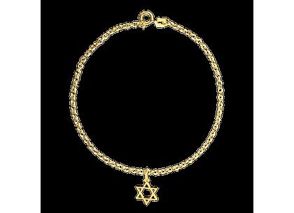 Pulseira de Estrela de Davi Ouro Amarelo