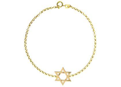 Pulseira Estrela de Davi Ouro Amarelo
