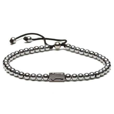 Pulseira Masculina Key Design Kennedy Ônix - Silver