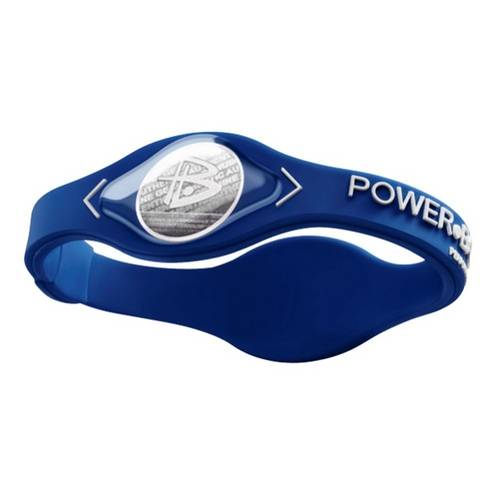 Pulseira Power Balance - Azul - Letras Brancas - Tamanho M