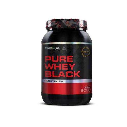 Pure Whey Black 900gr - Probiótica - Morango
