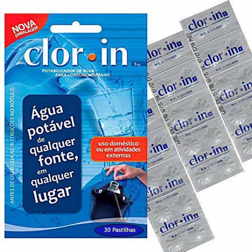 Purificador Pastilha Clorin Clor-in 30 Litros Consumo Humano