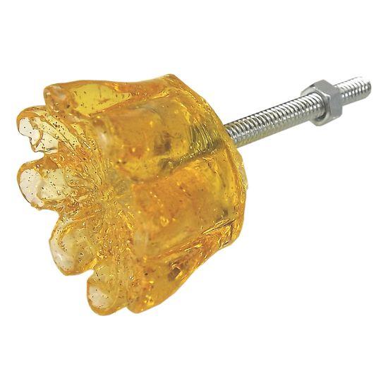 Puxador de Gaveta Imperial 3x3 Resina Transparente Amarelo