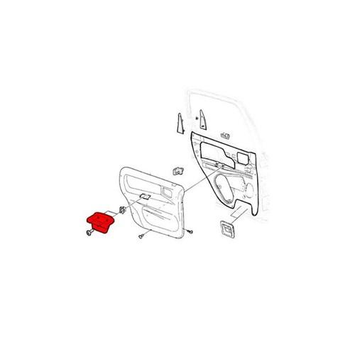 Puxador Interno da Porta Traseira Lado Esquerdo 90363255 Corsa Classic
