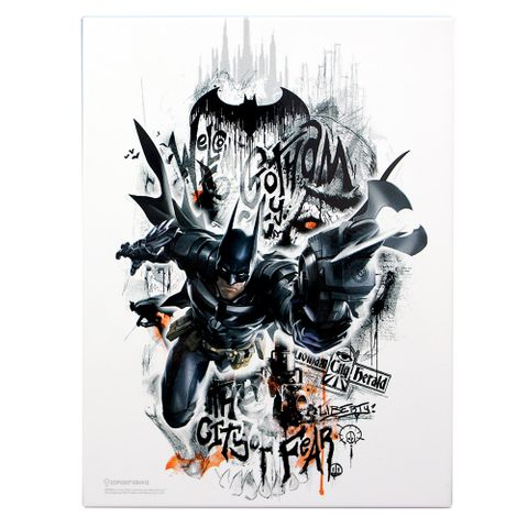 Quadro Batman Arkham 2 26x19cm