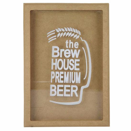 Quadro Cofre em MDF com Vidro 33,5x23x3,7cm The Brew House Premium Beer - Palácio da Arte