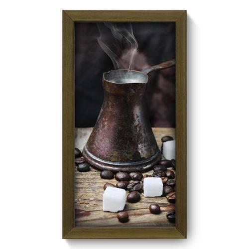 Quadro com Moldura - 19x34 - Café - N2034