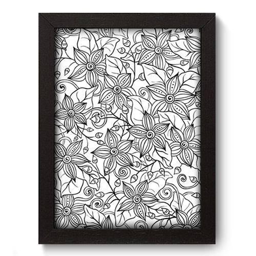 Quadro com Moldura - 19x25 - Flores - N3141