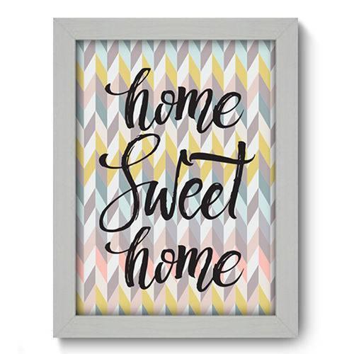 Quadro com Moldura - 19x25 - Home Sweet Home - N1147
