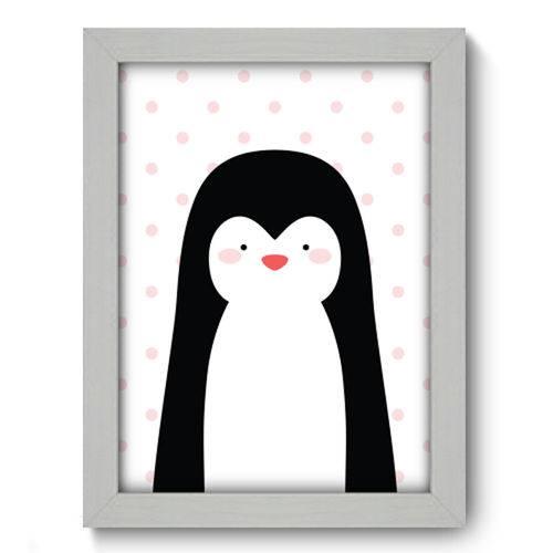 Quadro com Moldura - 19x25 - Pinguim - N1097