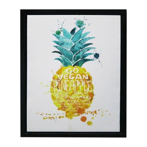 Quadro com Moldura Pineapple Laranja Urban